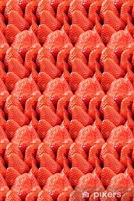 Vinylová tapeta na míru Čerstvé zralé červené jahody detailní - Témata