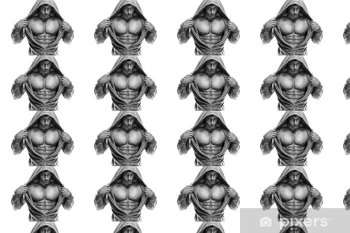 Vinylová tapeta na míru Silný Athletic Man Fitness Model Torso ukazuje šest balení abs. je -