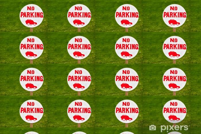 Vinyltapete nach Maß Parkverbotzeichen - Zeichen und Symbole