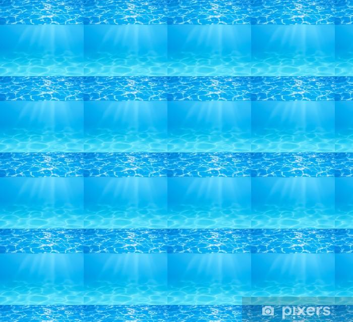 Papier peint vinyle sur mesure Surface de l'eau de la piscine bleue et sous-marine avec des étincelles de soleil et bea - Arrière plans