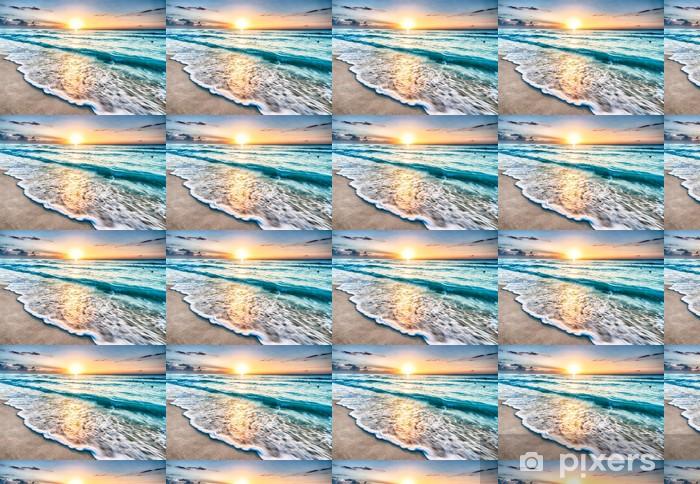 Tapeta na wymiar winylowa Wschód słońca na plaży w Cancun - Plaża i tropiki