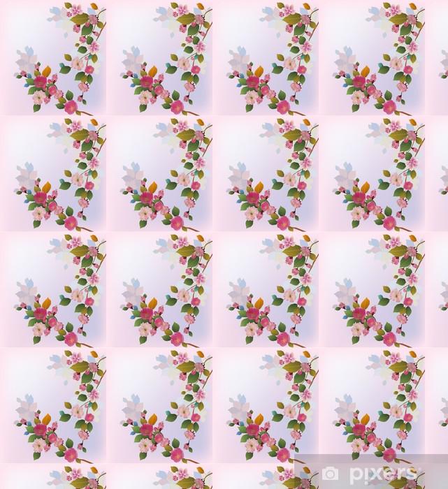 Papier peint vinyle sur mesure Sakura, ressort, carte postale. - Saisons