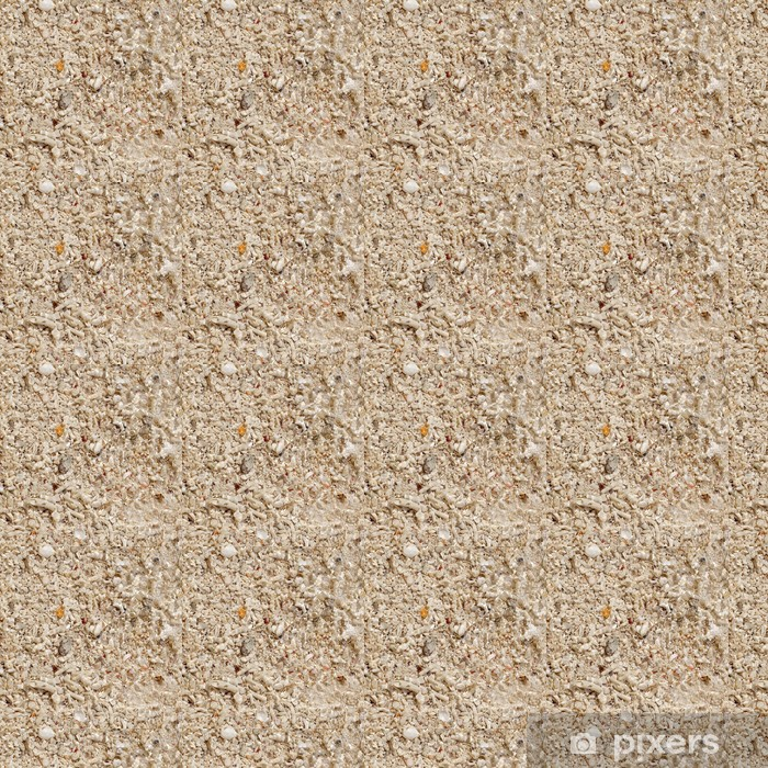 Soft wave on the coral beach Vinyl custom-made wallpaper - Textures