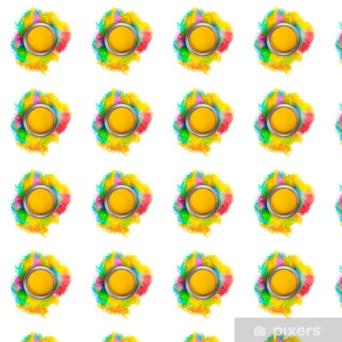 Tapeta na wymiar winylowa Abstrakcyjne kolorowe plamy na białym tle - Tła