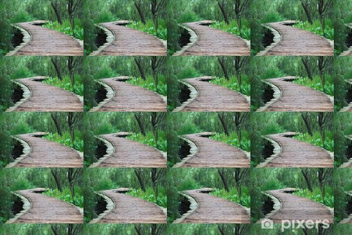 Papier peint vinyle sur mesure Le pont de bois à Xixi Hangzhou en Chine - Vacances