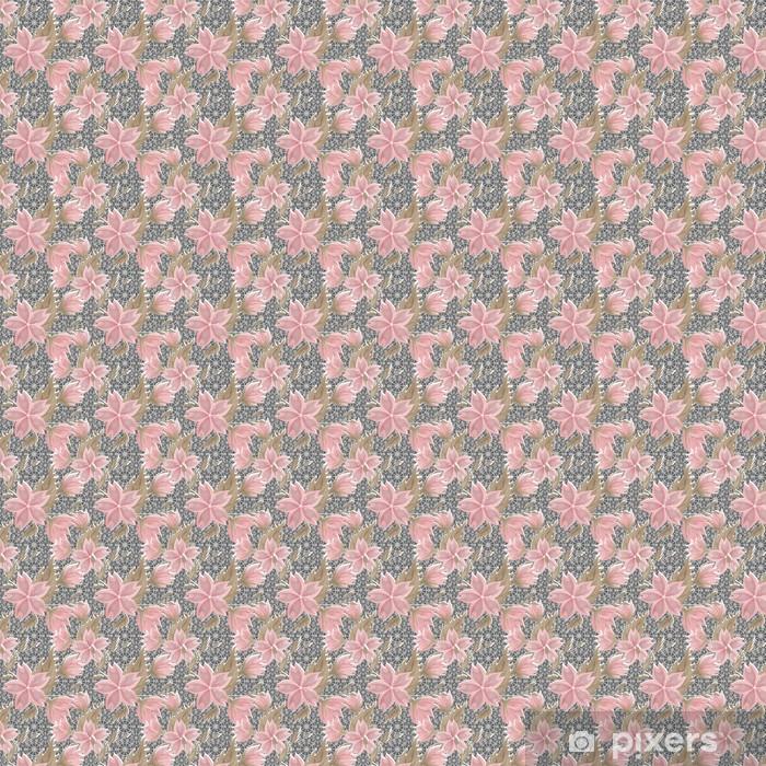 Tapeta na wymiar winylowa Bez szwu kwiatowy wzór koronki biały na szarym - Tła
