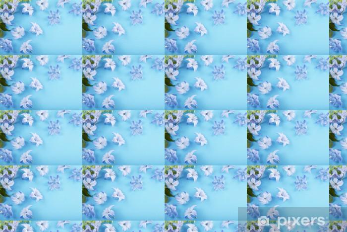 Papier peint vinyle sur mesure Épars fleurs de jacinthe bleue - Maisons et jardins