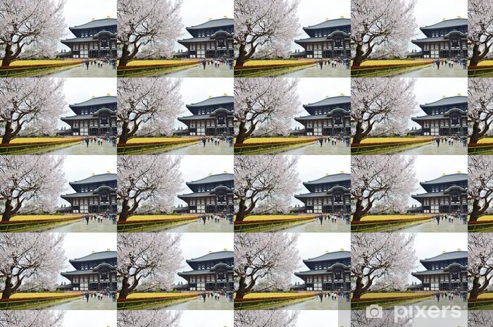 Sakura in Todaiji Temple Vinyl Custom-made Wallpaper - Asia