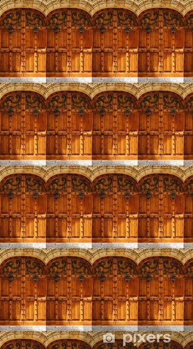 Papier peint vinyle sur mesure Porte Détail du Palau de Mar i Cel à Sitges, Barcelone - Textures