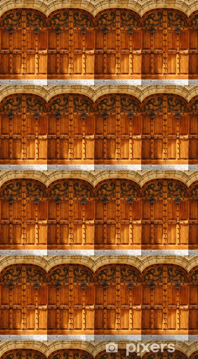 Vinyltapete nach Maß Tür Detail der Palau de Mar i Cel in Sitges, Barcelona - Texturen
