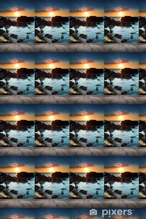 Vinylová tapeta na míru Krásný západ slunce na tropické pláži. - Evropa