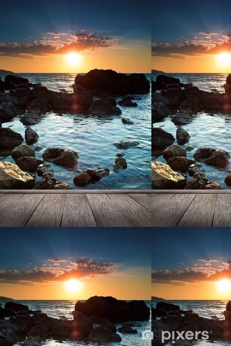 Vinylová Tapeta Krásný západ slunce na tropické pláži. - Evropa