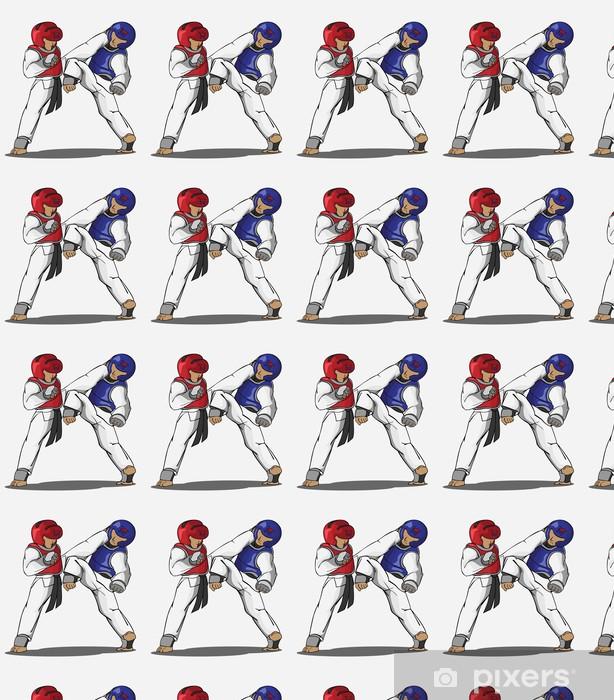 Papier peint vinyle sur mesure Taekwondo art martial - Sports extrêmes