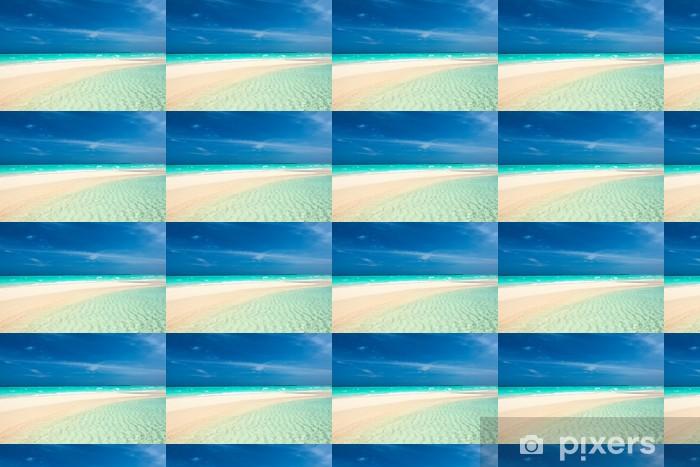 Vinylová tapeta na míru Krásná pláž s Sandspit na Maledivách - Prázdniny
