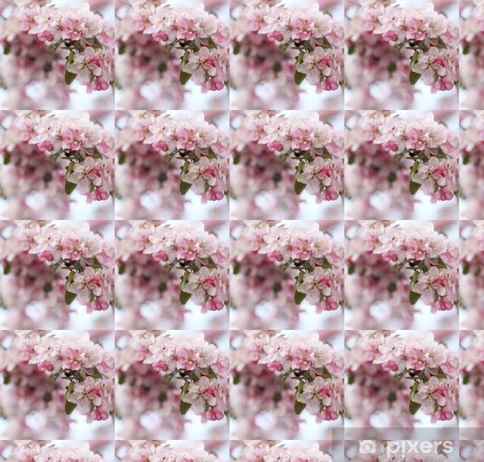 Papel pintado estándar a medida Flores de color rosa manzano - Flores