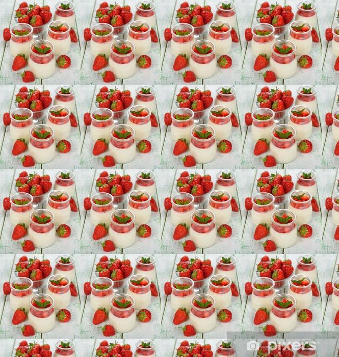 Papier peint vinyle sur mesure Dessert avec des fraises - Thèmes