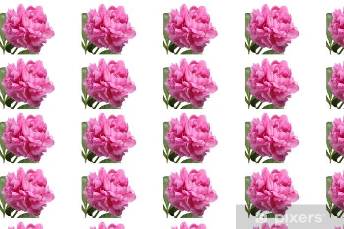 Papier peint vinyle sur mesure Pivoine rose - Fleurs