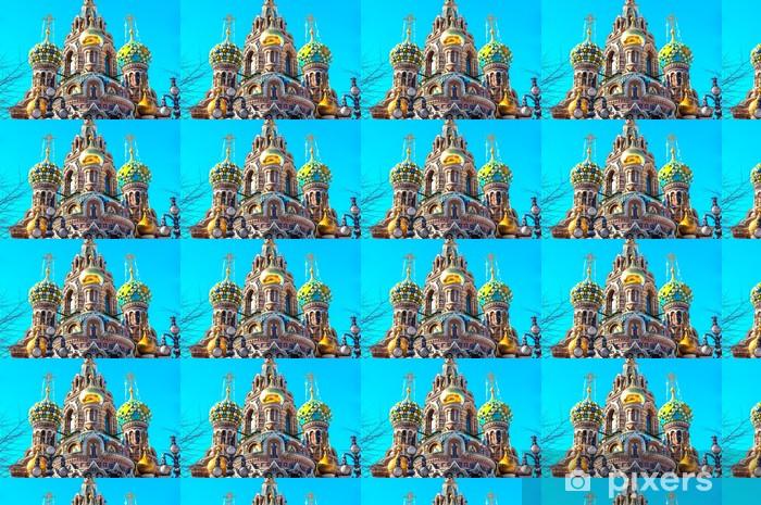 Carta da parati in vinile su misura Cupola della Chiesa del Salvatore sul Sangue, St Petersburg - Asia