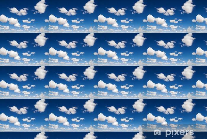 Papier peint vinyle sur mesure Nuages blancs dans le ciel bleu - Paix