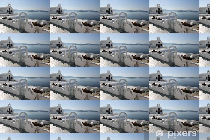 Papier peint vinyle sur mesure L'île de Santorin en Grèce - Europe