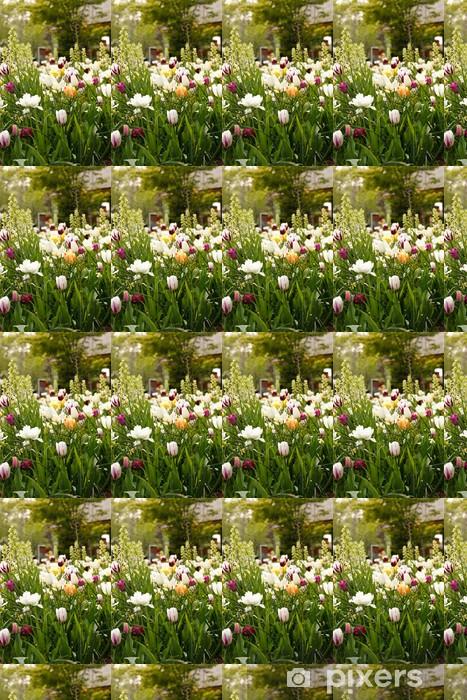Papier peint vinyle sur mesure Sping jardin - Paysages urbains