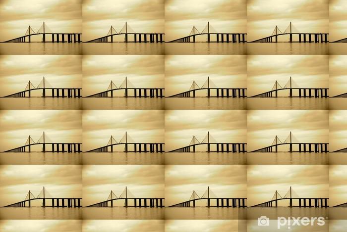 Papier peint vinyle sur mesure Pont de Skyway à Tampa, en Floride - Amérique
