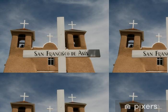 Vinylová Tapeta San Francisco de Asis Mission Church v Novém Mexiku - Amerika