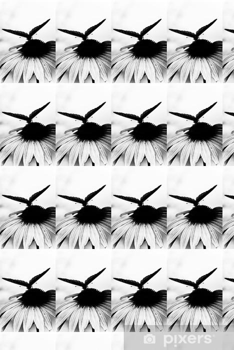 Carta da parati in vinile su misura Farfalla sul fiore - Temi