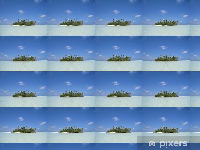 Papier peint vinyle sur mesure Vue depuis le lagon sur l'ile du soleil levant - Vacances