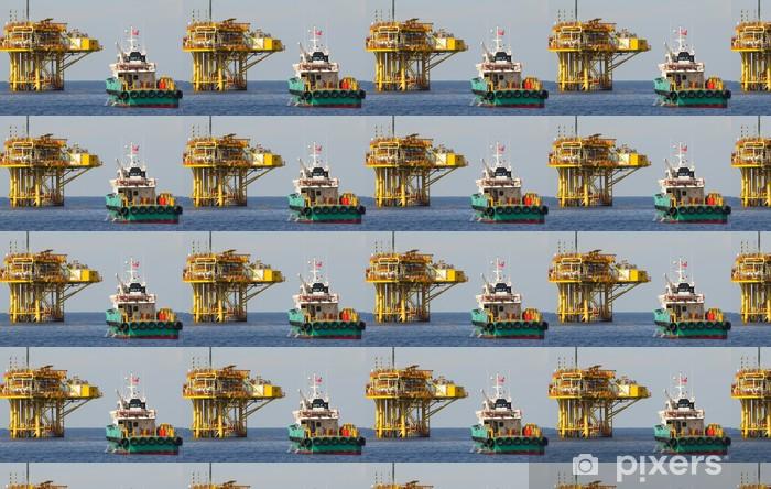 Tapeta na wymiar winylowa Platforma olej gotowości łodzi - Transport drogowy