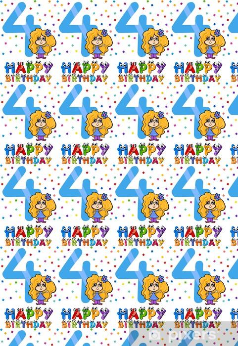 Papier peint vinyle sur mesure Quatrième de bande dessinée d'anniversaire - Célébrations