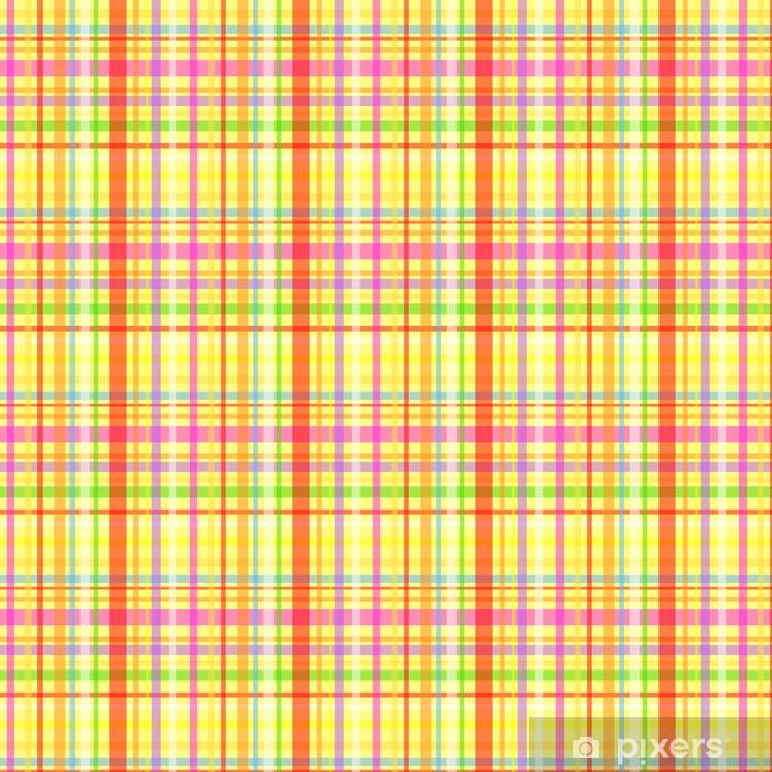 Vinyltapete nach Maß Nahtlose Schottenkaro-Muster-Gelb - Hintergründe