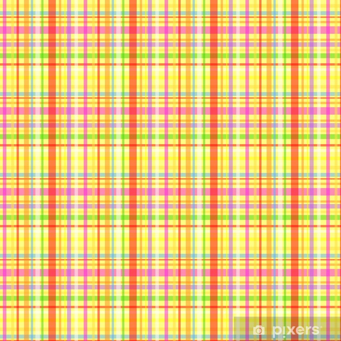 Seamless plaid pattern-yellow Vinyl custom-made wallpaper - Backgrounds