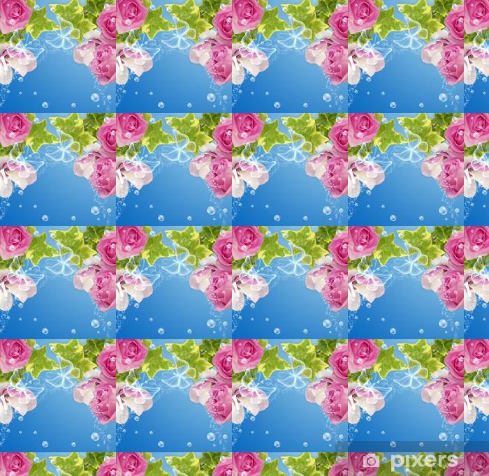 Tapeta na wymiar winylowa Róż, magnolii i motyle - Style