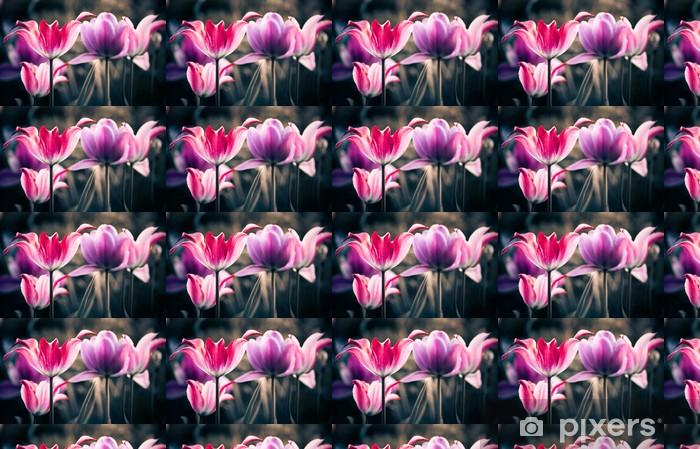 Tapeta na wymiar winylowa Świeże wiosenne kwiaty ogrodowe - Kwiaty