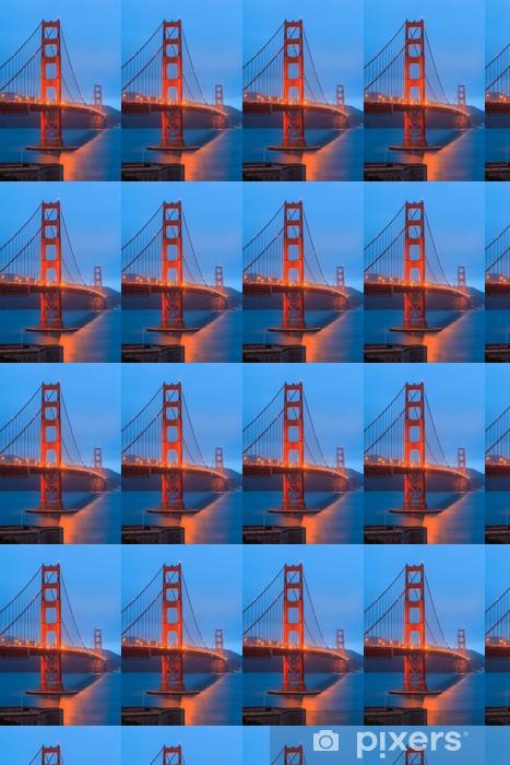 Papier peint vinyle sur mesure Golden Gate Bridge et le centre de San Francisco - Amérique