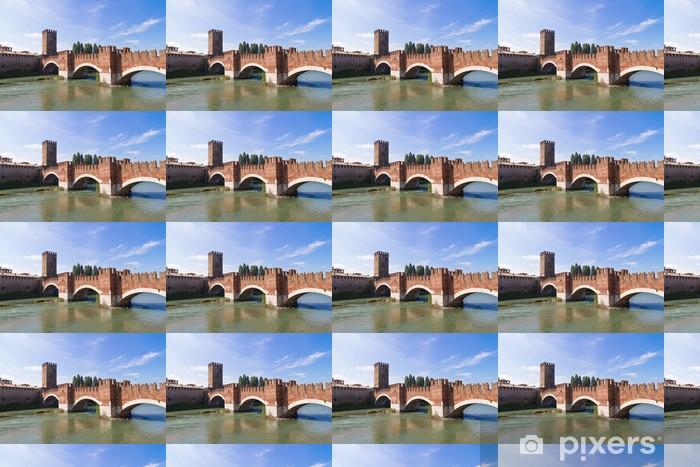 Vinyltapete nach Maß Schloss Vecchio in Verona - Europa