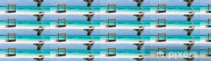 Papier peint vinyle sur mesure Tropical idyllique plage à Maldives - Eau