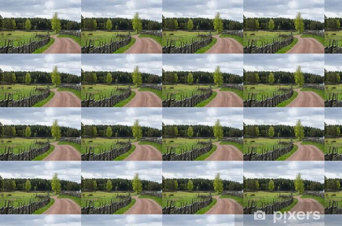 Tapeta na wymiar winylowa Błyszczące brzozy na krętej drodze żwirowej - Rolnictwo