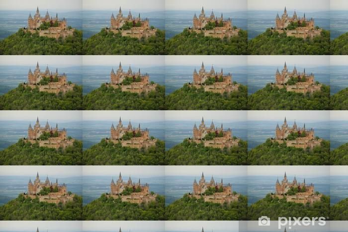 Tapeta na wymiar winylowa Z widokiem na Zamek Hohenzollernów w wiosnę - Tematy