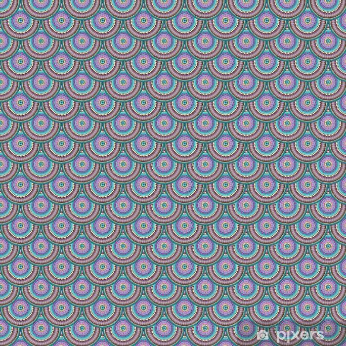 "Seamless geometric pattern in ""fish scale"" design. Vinyl custom-made wallpaper - Finance"