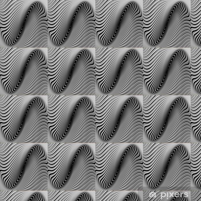 Papier peint vinyle sur mesure Conception monochrome pirouette mouvement circulaire fond - Thèmes