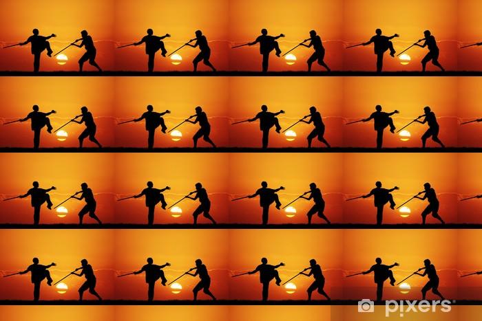 Vinylová tapeta na míru Kung fu při západu slunce - Témata