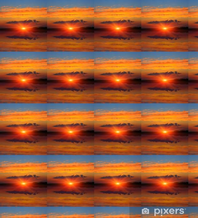 Papier peint vinyle sur mesure Ciel coucher de soleil sur le lac - Saisons