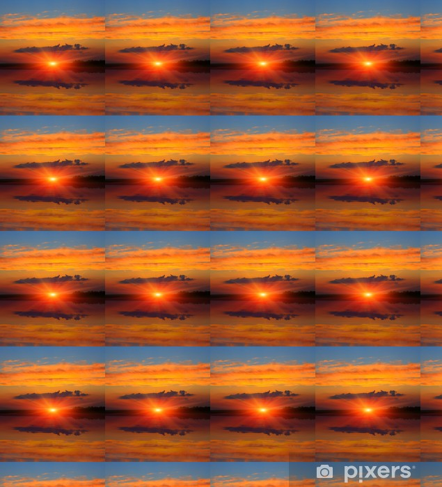 Vinyltapete nach Maß Sonnenuntergang Himmel über dem See - Jahreszeiten