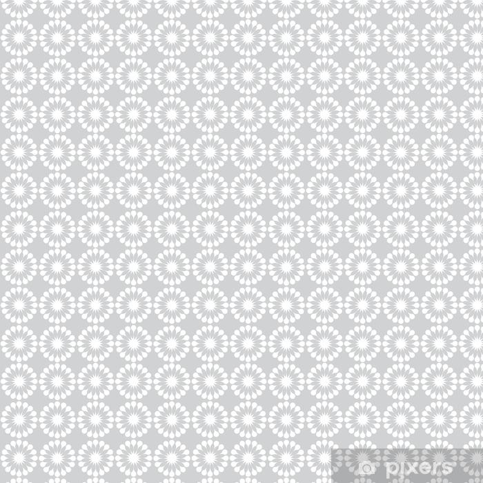 Papier peint vinyle sur mesure Modèle sans couture de fleurs blanches pissenlits - Ressources graphiques