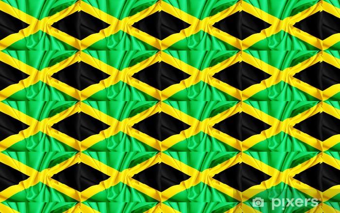 Papier peint vinyle sur mesure Drapeau de la Jamaïque - Réussite