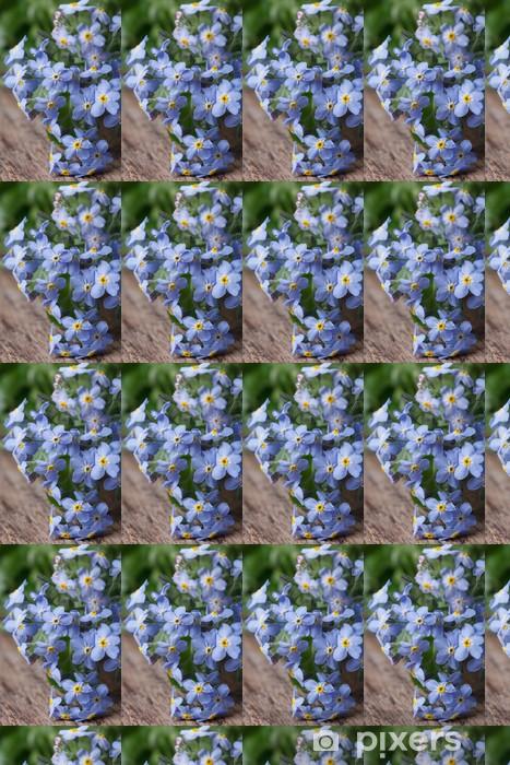 Papier peint vinyle sur mesure Bouquet de fleurs bleues forget-me-not. gros plan - Fleurs