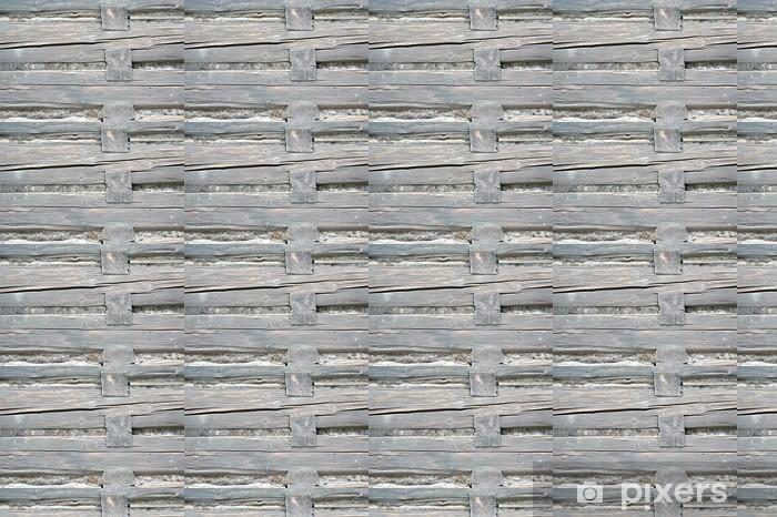 Papier peint vinyle sur mesure Mur en bois de cabane en rondins - Europe