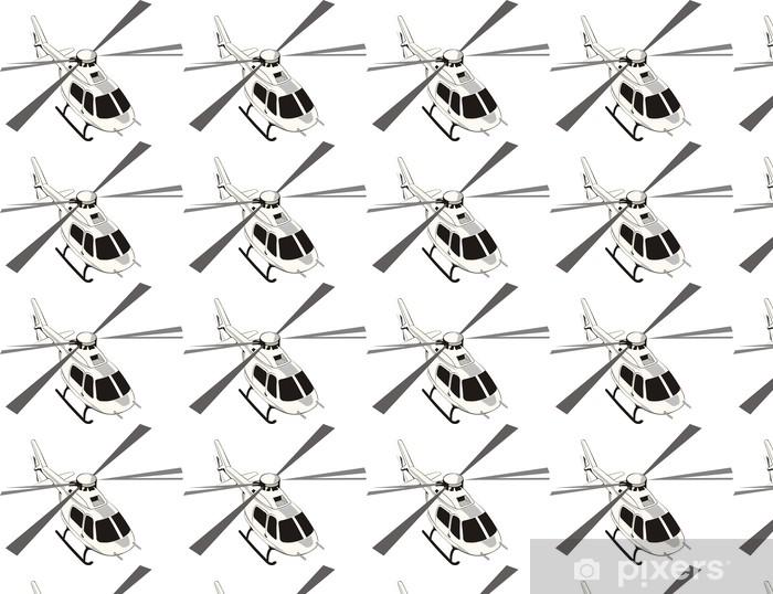 Civile helikopter Vinyltapet - Vægklistermærke